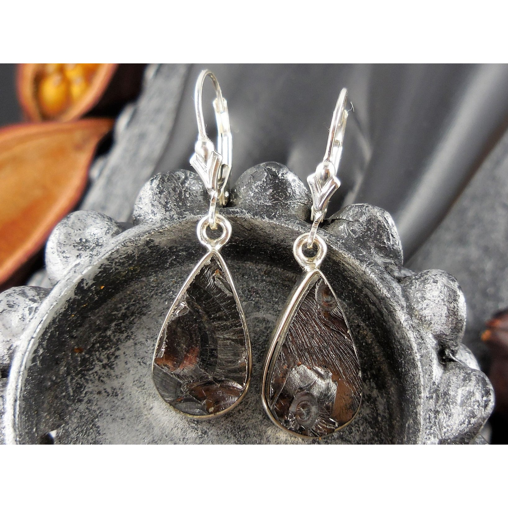 Black Tourmaline Sterling Silver Earrings