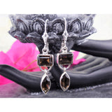 Smoky Topaz Sterling Silver Earrings