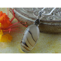 Montana Agate & Smoky Topaz Sterling Silver Pendant/Necklace
