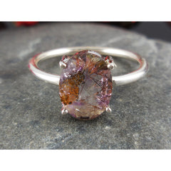 Cacoxenite Sterling Silver Ring - Size 8.75