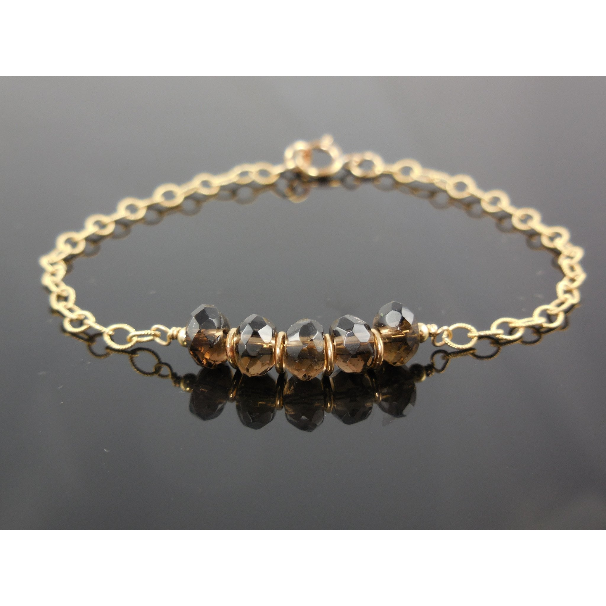 Gold-Filled Smoky Quartz Bracelet