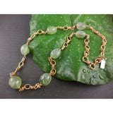 Gold-Filled Prehnite Gemstone Necklace