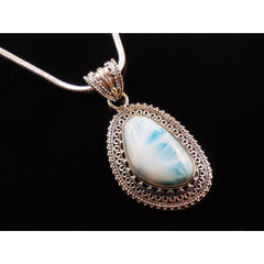 Larimar Sterling Silver Pendant/Necklace