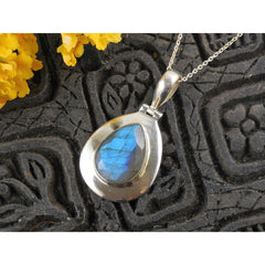 Labradorite Sterling Silver Pendant/Necklace