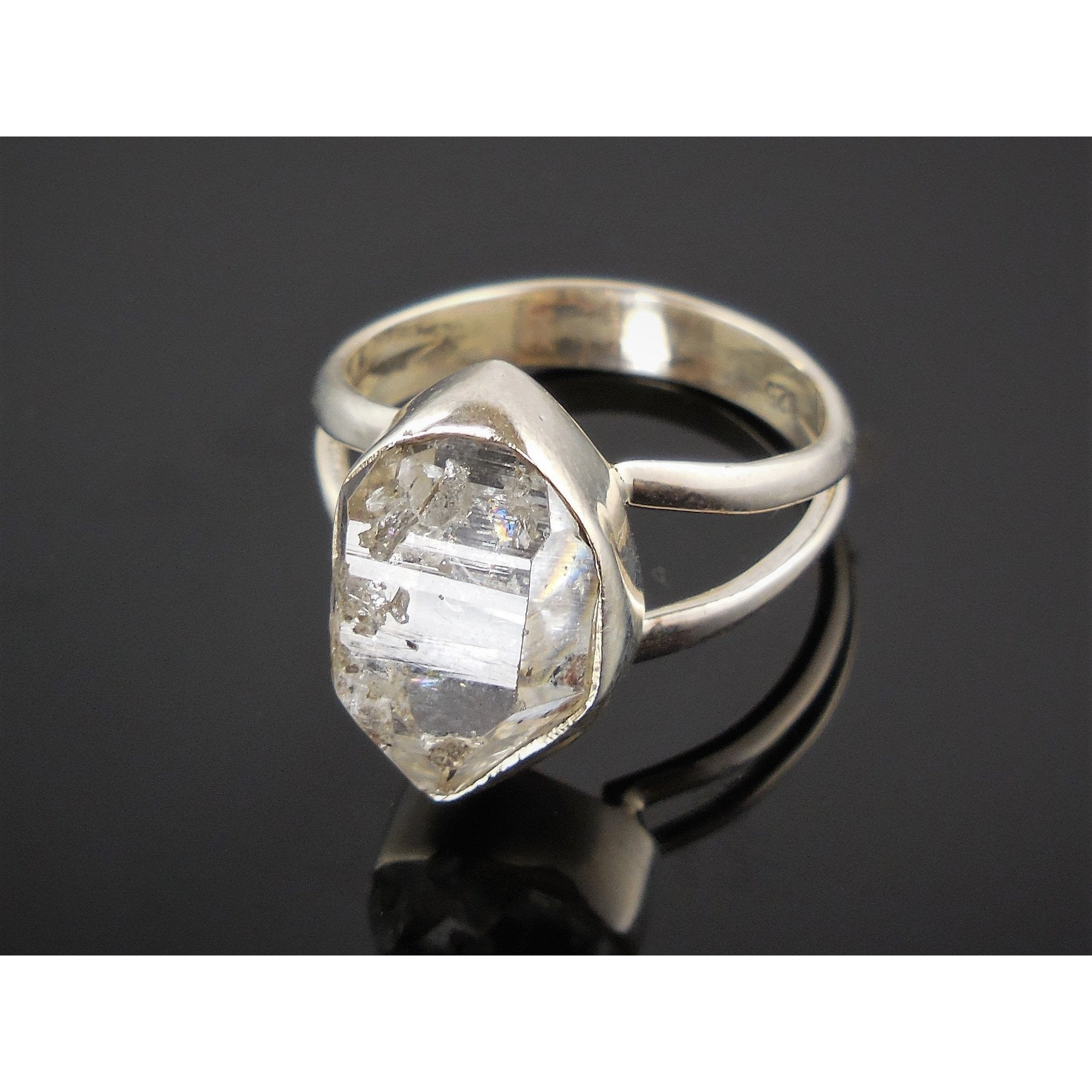 Herkimer Diamond (Quartz) Sterling Silver Ring - Size 6.50