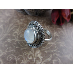 Moonstone Sterling Silver Ring - Size 7.75
