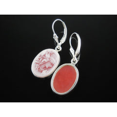 Cameo Sterling Silver Earrings