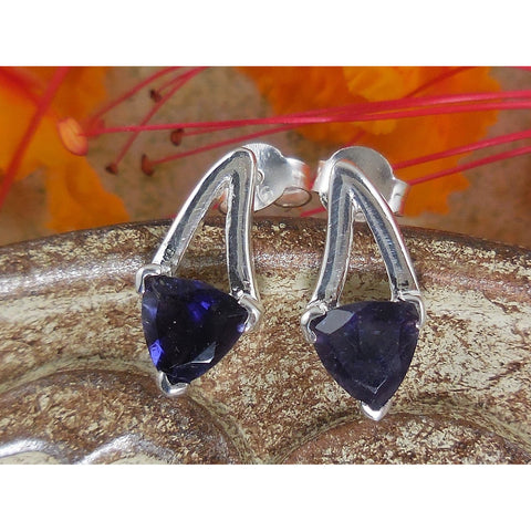 Iolite Sterling Silver Post Earrings
