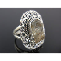 Labradorite Rough Sterling Silver Ring - Size 8.0
