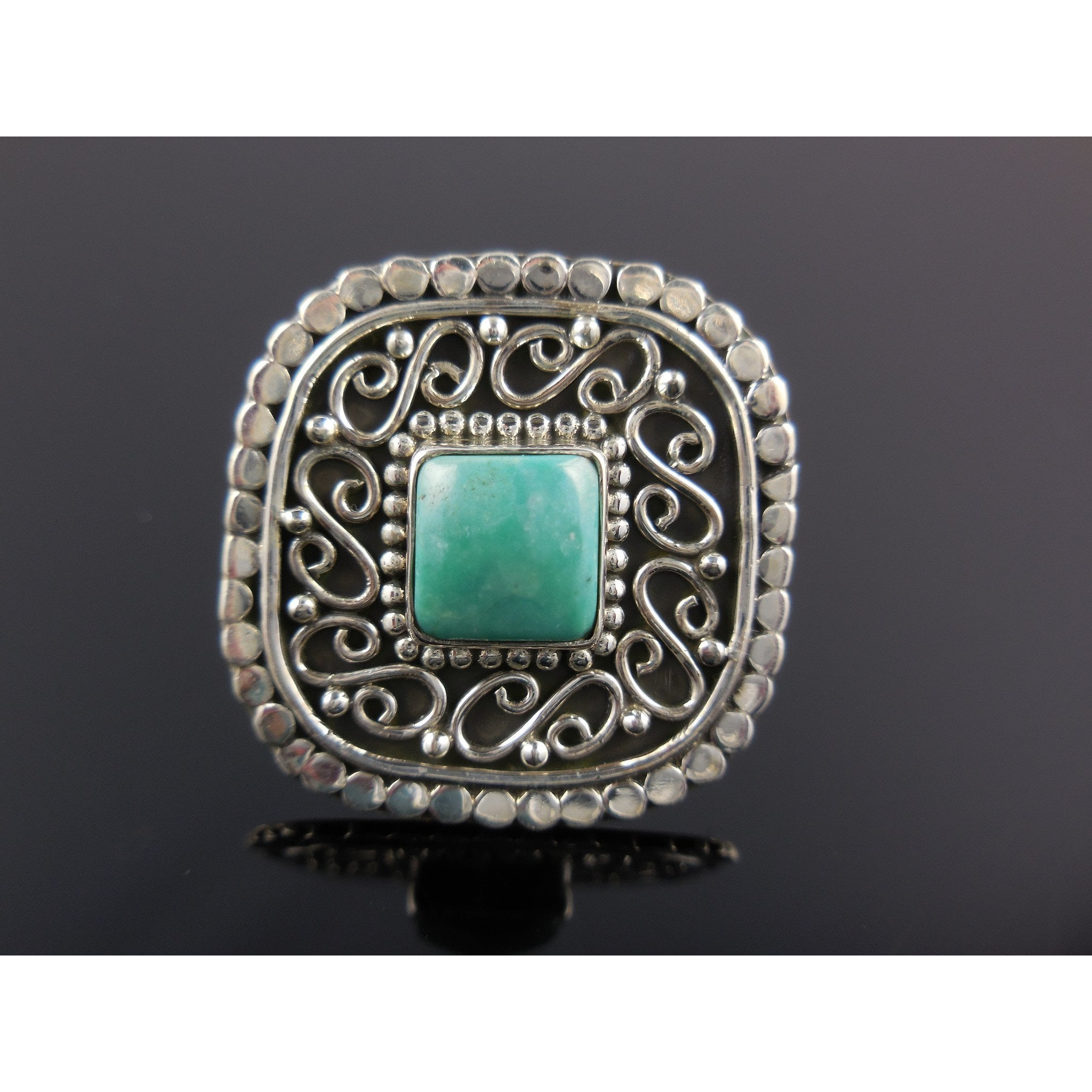 Turquoise Sterling Silver Ring - Size 5.25