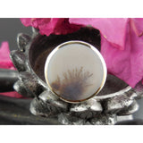 Dendritic Agate Sterling Silver - Size 9
