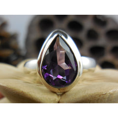 Amethyst Quartz .925 Sterling Silver Ring - Size 7