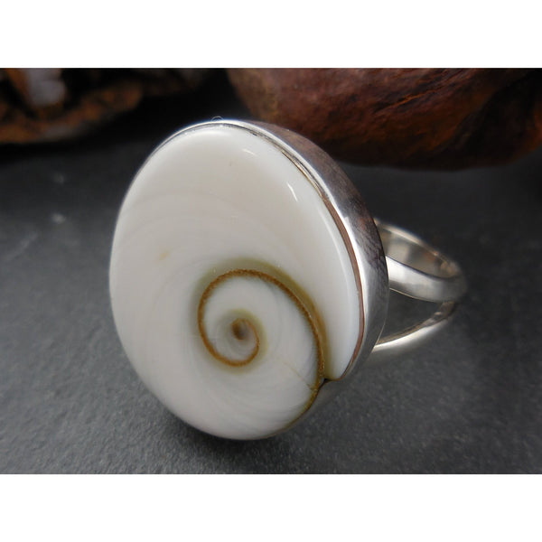 Shiva Eye .925 Sterling Silver Ring - Size 7