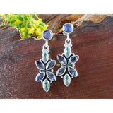 Iolite & Blue Topaz Sterling Silver Earrings