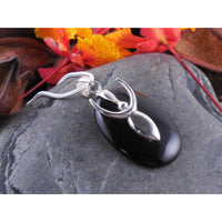 Onyx Goddess Sterling Silver Pendant/Necklace
