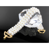 Handwoven Moonstone Gemstone Bracelet with Vermeil Clasp