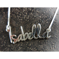 Tiny Name Necklace - Extra Thick Metal - Modern Script Font