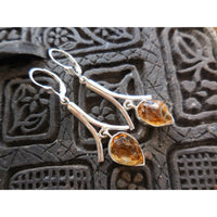 Citrine Quartz (Rough) .925 Sterling Silver Earrings