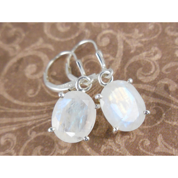 Moonstone Dainty .925 Sterling Silver Earrings