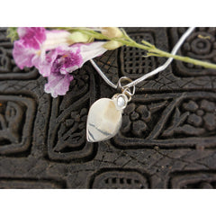 Freshwater Pearl Sterling Silver Heart Pendant/Necklace