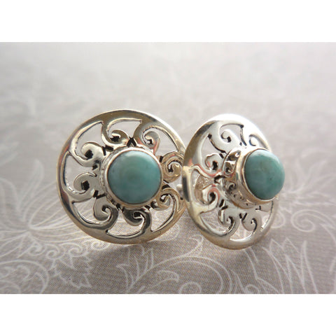 Turquoise .925 Sterling Silver Post Earrings