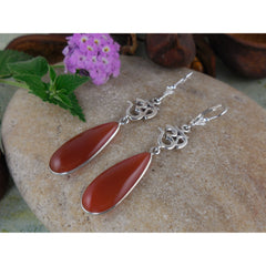 Carnelian Sterling Silver Earrings