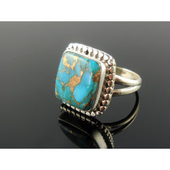 Turquoise Sterling Silver Ring - Size 6.5