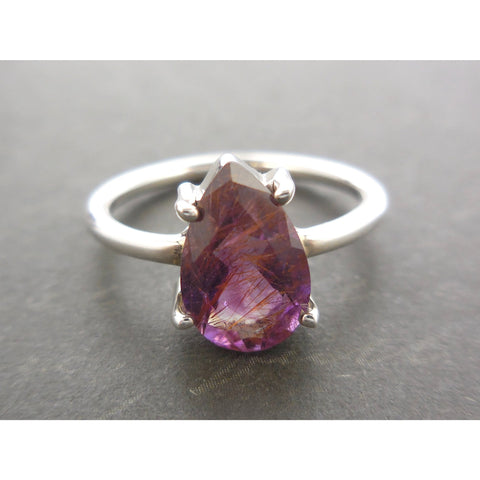 Cacoxenite .925 Sterling Silver Ring - Size 6.25