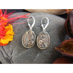 Turtella Jasper Sterling Silver Bird Earrings