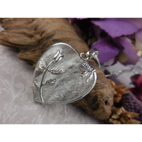 Crystal Quartz Cabochon Chunky Heart Silver-Plated & Stainless Steel Necklace