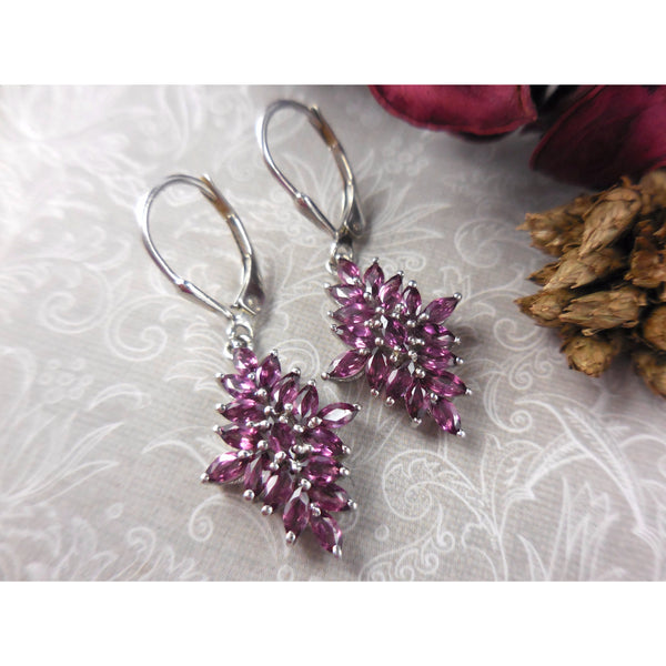 Rhodolite Garnet .925 Sterling Silver Earrings