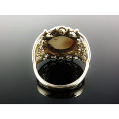Shiva Eye Shell Sterling Silver Ring - Size 8