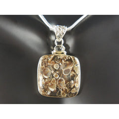Turtella Jasper & Herkimer Diamond (Quartz) Pendant/Necklace