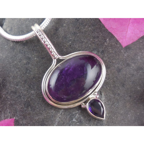 Amethyst Sterling Silver Pendant/Necklace