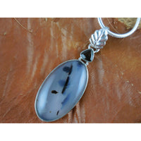 Montana Agate & Smoky Quartz Sterling Sivler Pendant/Necklace