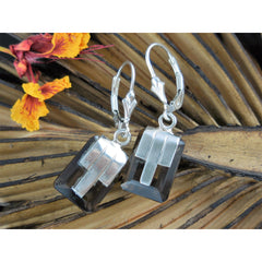 Smoky Quartz Sterling Silver Earrings