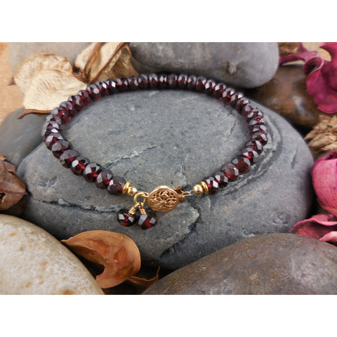 Gold-Filled Garnet Bracelet