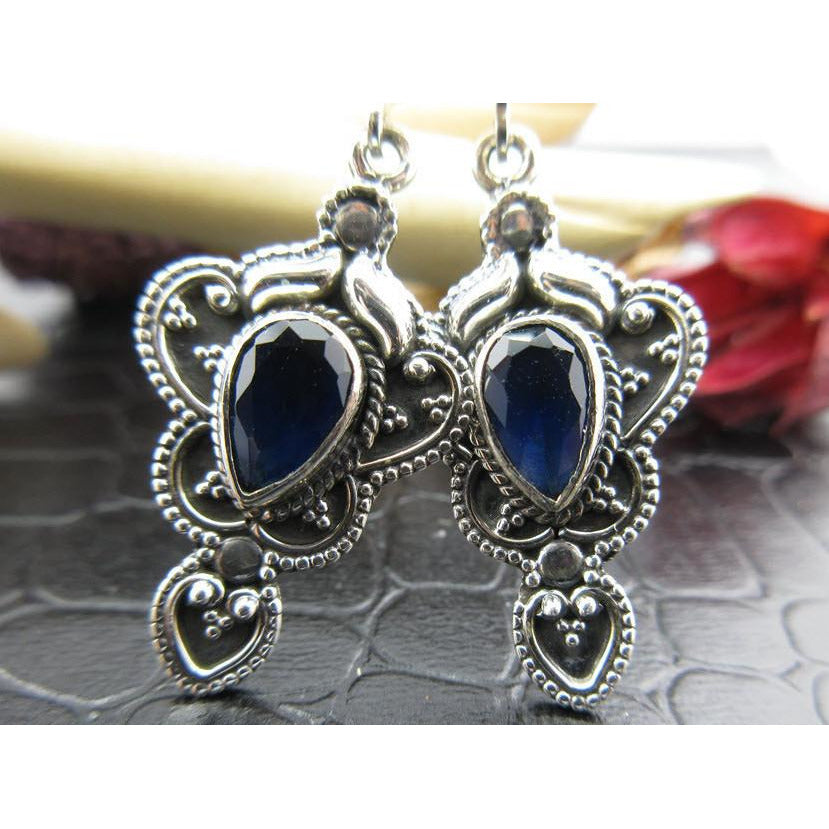 Sapphire Sterling Silver Earrings