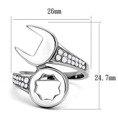 Stainless Steel & CZ Tool Ring