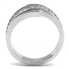 Stainless Steel & CZ Ring