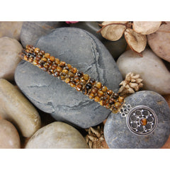 Handwoven Tigers Eye Bracelet