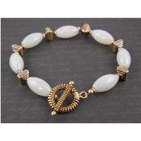 Amazonite Gold-Filled Toggle Bracelet