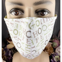 Handsewn Face Mask with Filter Pocket, Bendable Nose Wire, & Adjustable Elastic - Faith, Love, Hope, Home - 5 Sizes