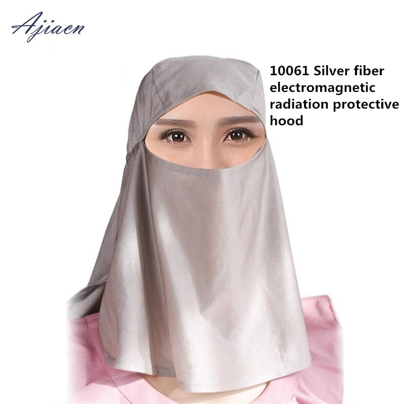 100% silver fiber unisex electromagnetic radiation protective hood