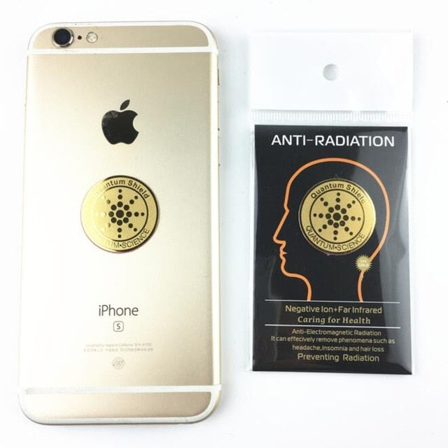 24K Gold Plated Electromagnetic Field Radiation Blocking Stickers