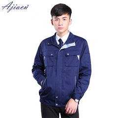 Anti-electromagnetic shielding radiation zipper jacket with chest button flap pockets
