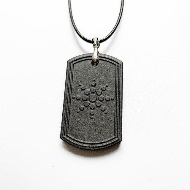 Anti EMF Radiation Natural Black Stone Protective Pendant