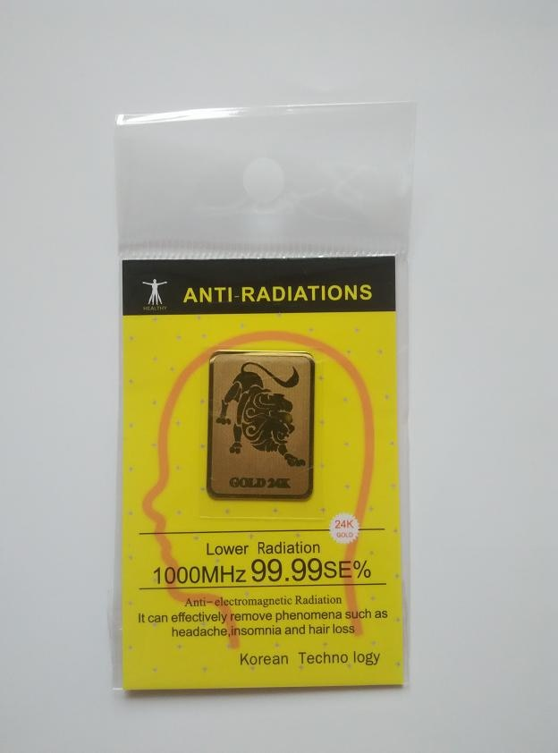 24K-gold Zodiac Anti Radiation Stickers (12pcs)