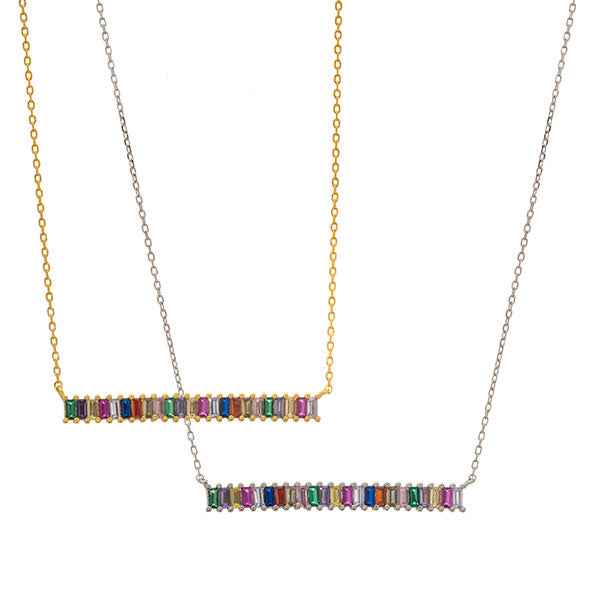 Color Baguette Necklace