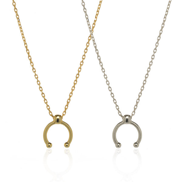 Dot Arc Necklace